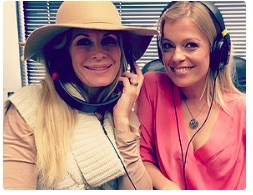 "Anna-Karin Bjorklund with Peggy Tanous on ""Keeping it Real"" show"